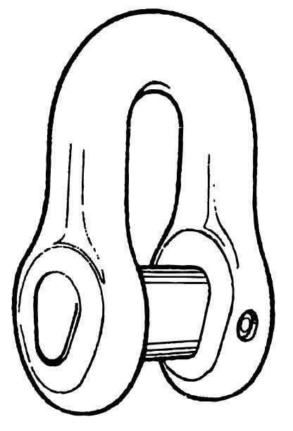 Stud link D-Joining-Shackle