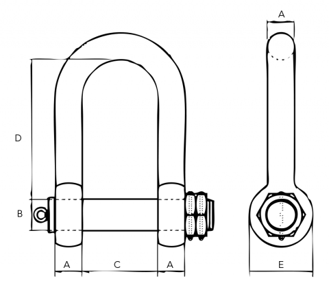 GN-HD-Double-Nut--Shackle Spec Drawing